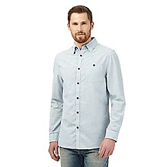 RJR.John Rocha - Big and tall blue long sleeved checked print shirt