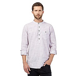 RJR.John Rocha - Big and tall purple crosshatch shirt