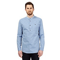 RJR.John Rocha - Big and tall blue textured diamond tailored fit shirt