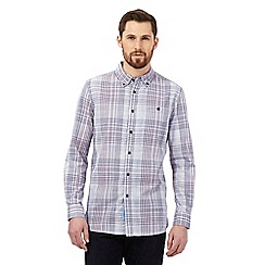 RJR.John Rocha - Big and tall purple textured check tailored fit shirt