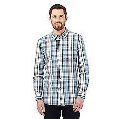 RJR.John Rocha - Big and tall blue checked print tailored fit shirt