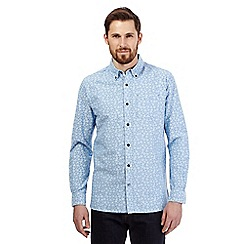 RJR.John Rocha - Big and tall blue daisy pattern shirt