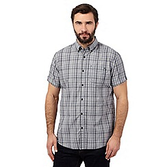 RJR.John Rocha - Navy checked short sleeved shirt