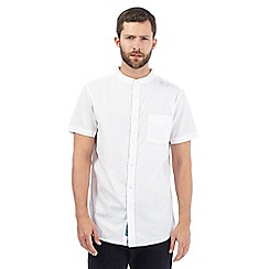 RJR.John Rocha - Big and tall white textured granddad shirt