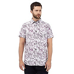 RJR.John Rocha - Big and tall purple tropical floral print shirt