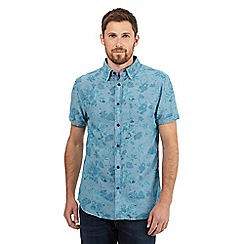 RJR.John Rocha - Big and tall aqua floral print shirt