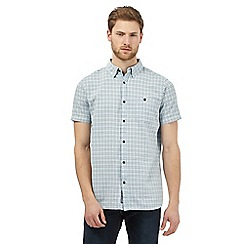 RJR.John Rocha - Blue textured rectangle shirt