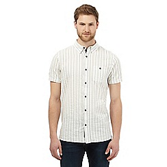 RJR.John Rocha - Ivory striped print shirt