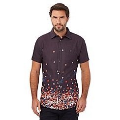 RJR.John Rocha - Big and tall navy textured graduated floral print shirt