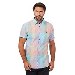 RJR.John Rocha - Multi-coloured checked linen blend shirt