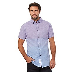 RJR.John Rocha - Purple ombre-effect linen blend shirt