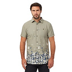 RJR.John Rocha - Big and tall khaki textured graduated floral print shirt