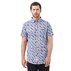 RJR.John Rocha - Big and tall purple floral shirt