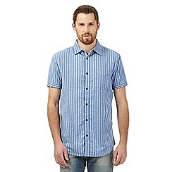RJR.John Rocha - Big and tall blue striped print shirt