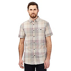RJR.John Rocha - Big and tall beige checked print shirt