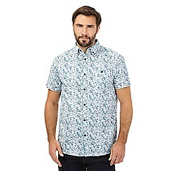 RJR.John Rocha - Big and tall blue faded triangle print shirt