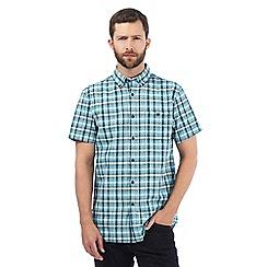 RJR.John Rocha - Big and tall aqua checked print shirt