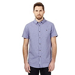 RJR.John Rocha - Purple textured diamond tailored shirt
