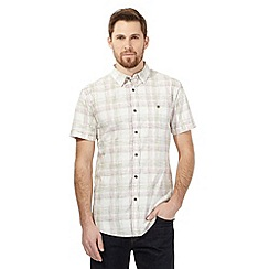 RJR.John Rocha - Big and tall khaki checked print shirt