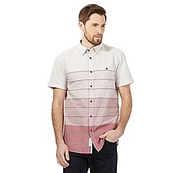 RJR.John Rocha - Pink striped ombre short sleeved shirt