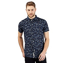 RJR.John Rocha - Big and tall navy short sleeve daisy print shirt