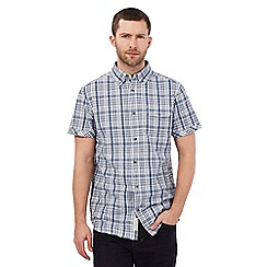 RJR.John Rocha - Blue textured checked print shirt