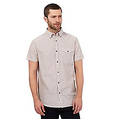 RJR.John Rocha - Big and tall beige textured broken stripe shirt
