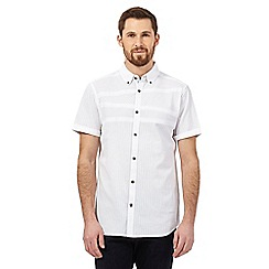 RJR.John Rocha - White textured stripe short sleeved shirt