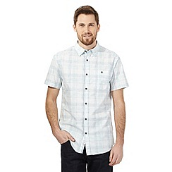 RJR.John Rocha - Big and tall aqua checked print shirt