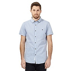 RJR.John Rocha - Big and tall blue textured tailored shirt