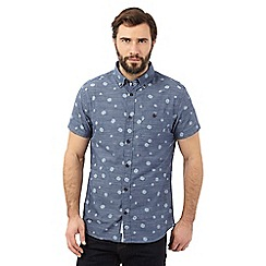 RJR.John Rocha - Navy thumbprint regular fit shirt