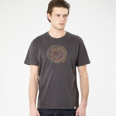 Brown Embroidered Circle T-shirt