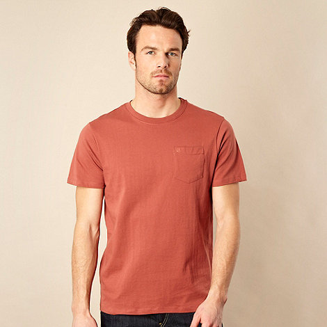 RJR.John Rocha - Big and tall dark orange single pocket t-shirt