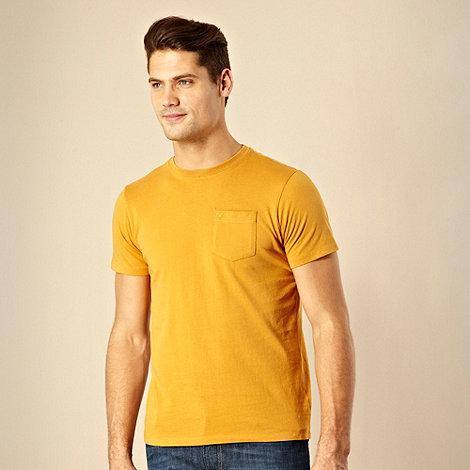 RJR.John Rocha - Designer dark yellow single pocket t-shirt