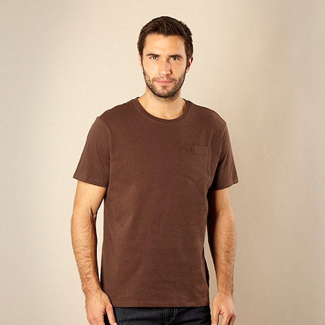 RJR.John Rocha - Designer brown pocket t-shirt