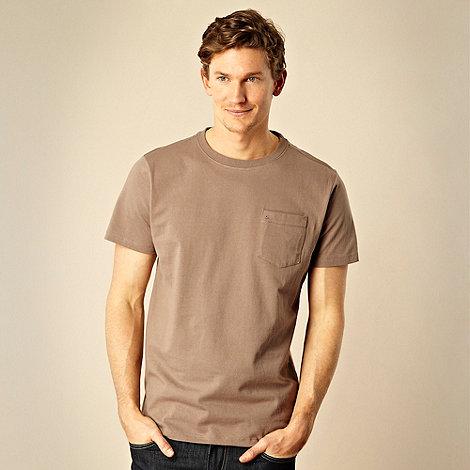 RJR.John Rocha - Big and tall light brown pocket t-shirt
