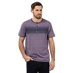 RJR.John Rocha - Big and tall purple marl striped print grandad top