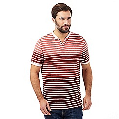 RJR.John Rocha - Big and tall red striped t-shirt