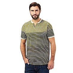 RJR.John Rocha - Big and tall green striped t-shirt