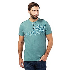 RJR.John Rocha - Big and tall turquoise placement t-shirt