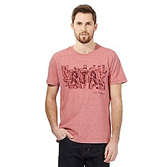 RJR.John Rocha - Big and tall dark pink puzzle logo embroidered t-shirt
