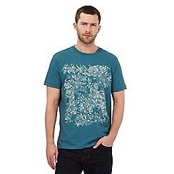 RJR.John Rocha - Dark turquoise fireworks embroidered t-shirt