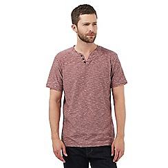 RJR.John Rocha - Big and tall grey textured notch t-shirt