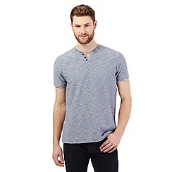 RJR.John Rocha - Grey textured notch t-shirt