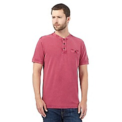 RJR.John Rocha - Big and tall dark pink notch neck t-shirt