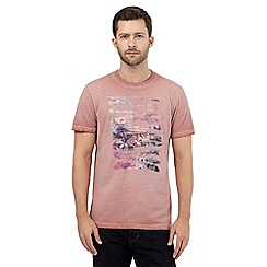 RJR.John Rocha - Big and tall pink paint script t-shirt