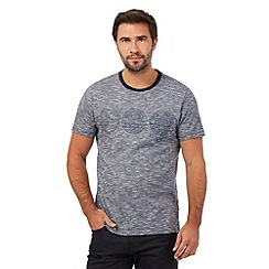 RJR.John Rocha - Grey fine striped stitched circle t-shirt