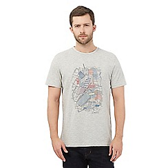 RJR.John Rocha - Big and tall light grey abstract t-shirt