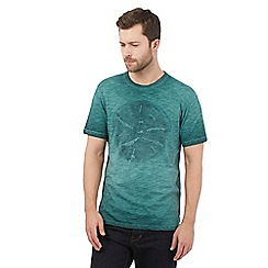 RJR.John Rocha - Dark green oil wash circle t-shirt