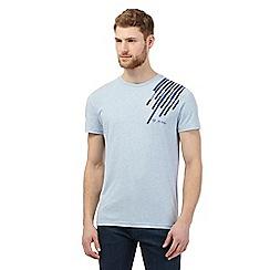 RJR.John Rocha - Big and tall blue striped applique t-shirt